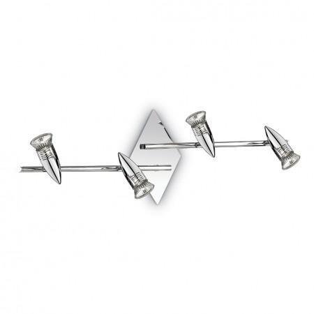 Bodové stropní a nástěnné svítidlo Ideal Lux Alfa PL4 cromo 089584 chromové 71,5cm