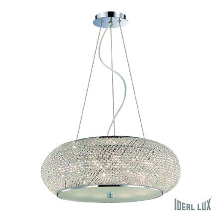 Závěsné svítidlo Ideal Lux Pasha SP10 cromo 082196 chromová 55cm