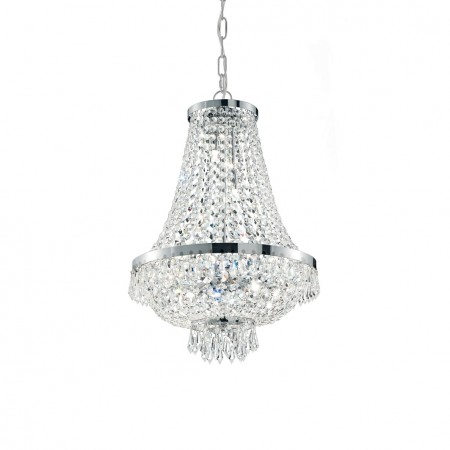 Závěsné svítidlo Ideal Lux Caesar SP12 cromo 114279 55cm stříbrné