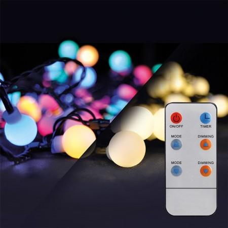 Venkovní vánoční řetěz RGB