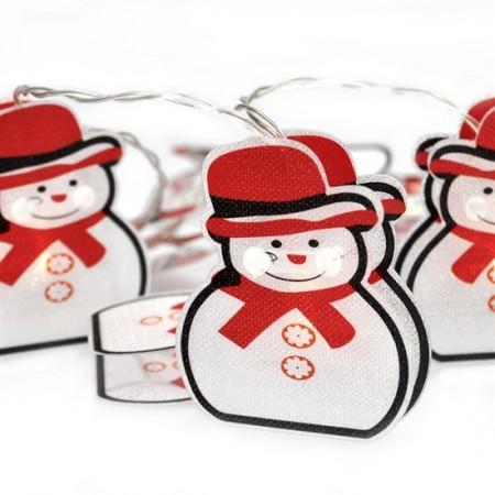 Vánoční řetěz sněhuláci