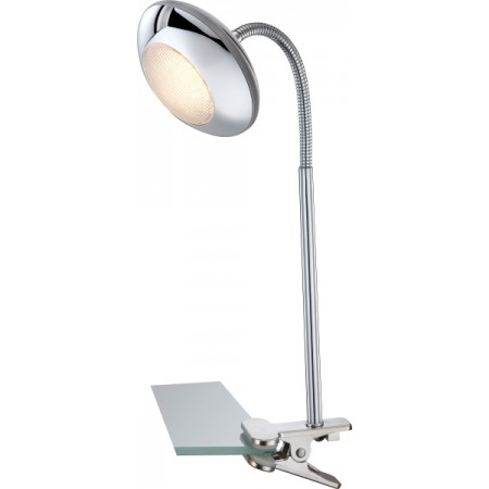 GLOBO Stolní LED lampa se skřipcem GILLES 56217-1K