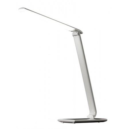 Ihned - LED stolní lampička stmívatelná USB, 12W, volba teploty světla, bílý lesk