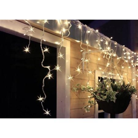 LED vánoční závěs, rampouchy, 120LED, 3m x 0,7m, přívod 6m, venkovní, bílé světlo