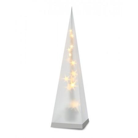 LED vánoční pyramida na baterie, 3D efekt světla, 45cm