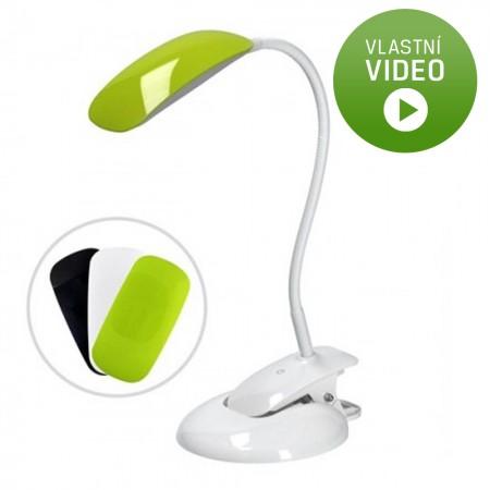 Ihned - LED stmívatelná lampička - podstavec i klip, 3 barevné kryty