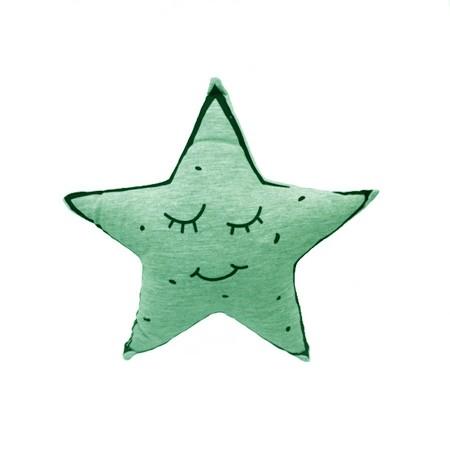 FLUORESCENČNÍ/SVÍTÍCÍ POLŠTÁŘEK ve tvaru hvězdičky