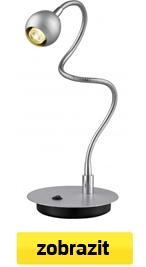 led lampa stříbrná