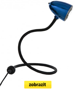 led lampa flexi modrá